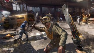Dying Light 2: Stay Human screenshot of person attacking with weapon