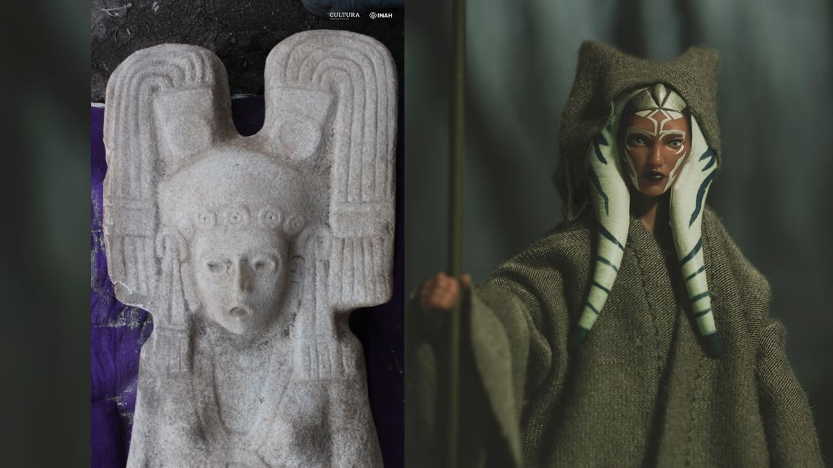 Statue of mysterious woman with 'Star Wars'-like headdress found in Mexico