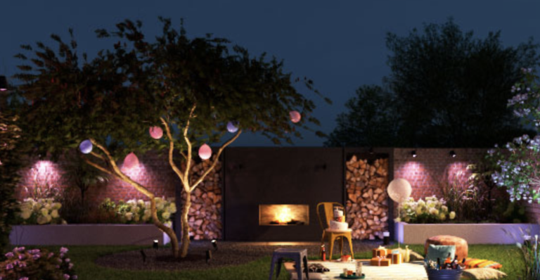 Set the mood with Phillips Hue outside lighting