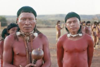 Xavante tribe father and son