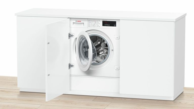 Bosch washing machines: integrated machine in kitchen