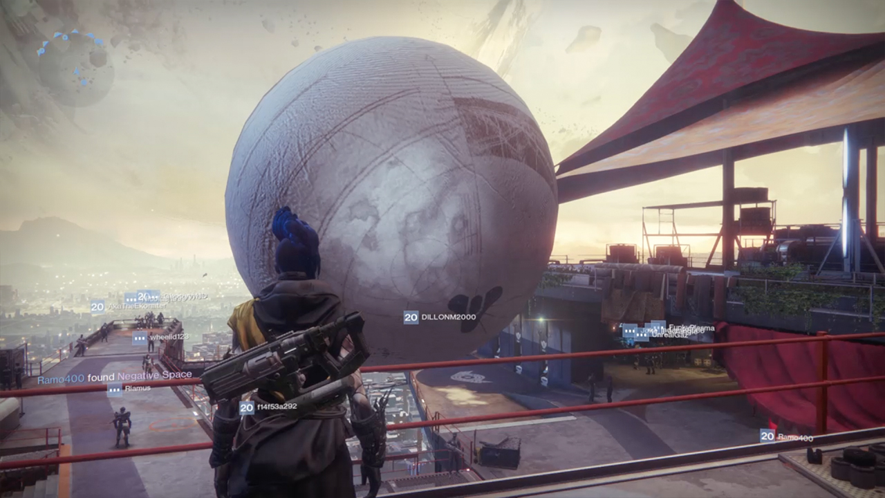 How to get the huge Traveller ball in the Tower in Destiny 2