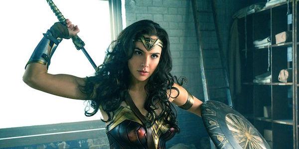 Wonder Woman battling