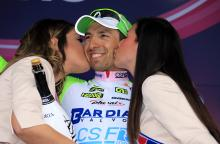 Stefano Pirazzi (Bardiani CSF) on the podium