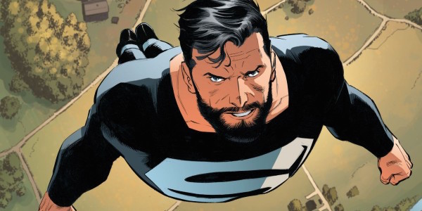 Superman wearing black suit in comics