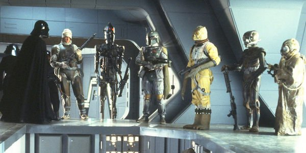 Boba Fett and bounty hunters in Star Wars: The Empire Strikes Back