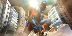 Epic Black Adam Fan Art Pits Dwayne Johnson Against Noah Centineo's Massive Atom Smasher