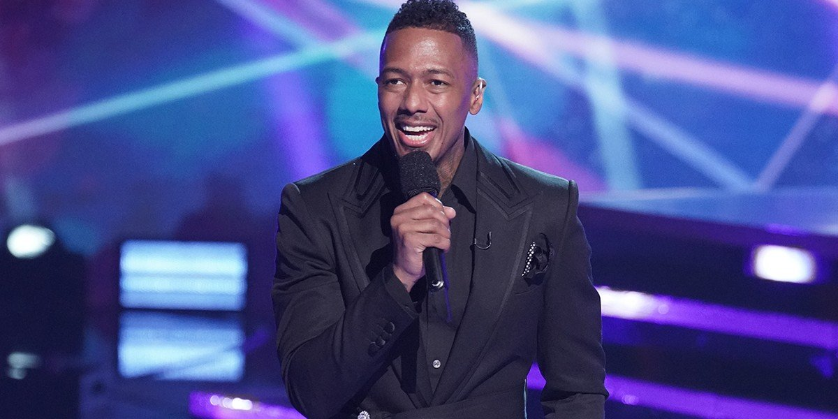 Nick Cannon looking happy on The Masked Singer on Fox