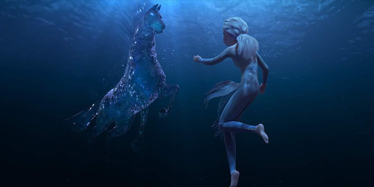 Elsa and Gail underwater in Frozen II
