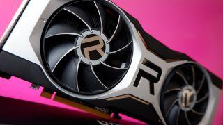 AMD Radeon RX 6700 XT graphics card on gradient background