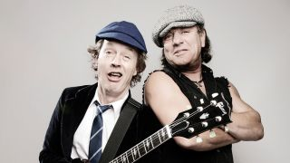 Angus Young and Brian Johnson of AC/DC in 2008