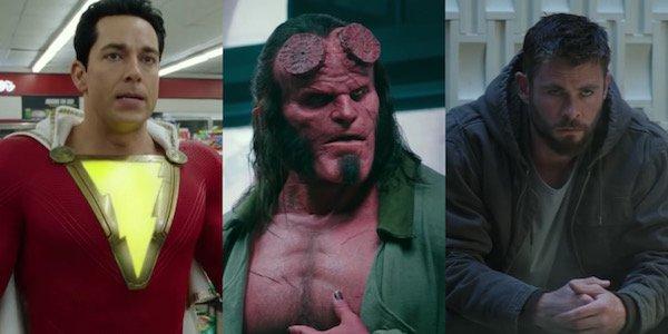 Shazam, Hellboy and Thor