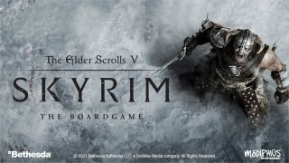 A promotional image for The Elder Scrolls V: Skyrim - The Board Game