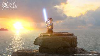 A promotional image for Lego Star Wars: The Skywalker Saga