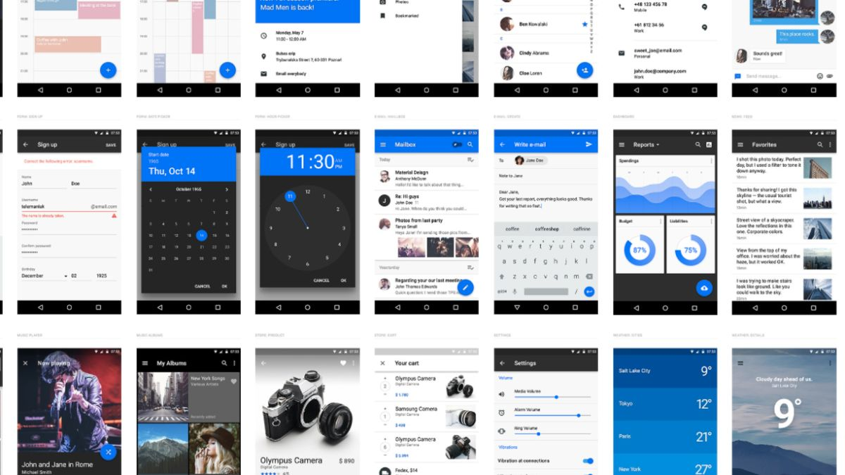 UXPin releases free Material Design UI library