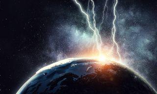 lightning striking Earth