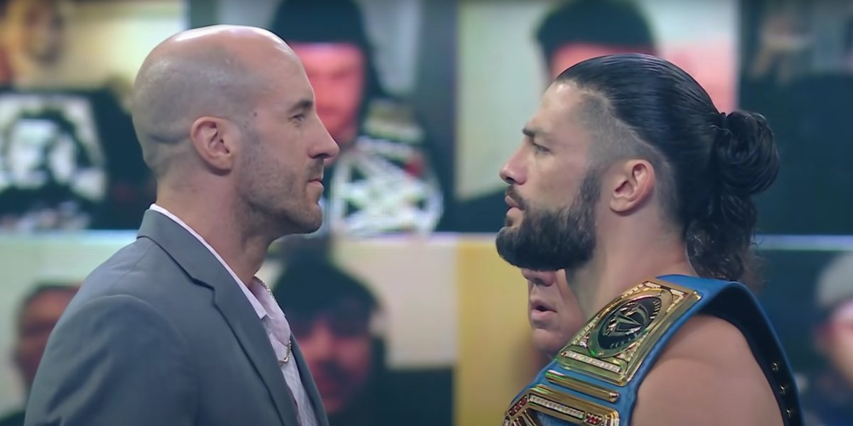 Cesaro and Roman Reigns on SmackDown
