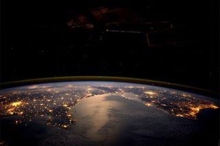 Lights of Europe at night as seen from the International Space Station
