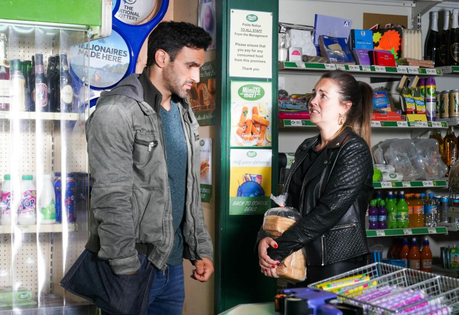 Stacey tells Kush about the post in EastEnders