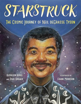 """Starstruck: The Cosmic Journey of Neil deGrasse Tyson"" book cover"