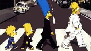 The Simpsons cross Abbey Road