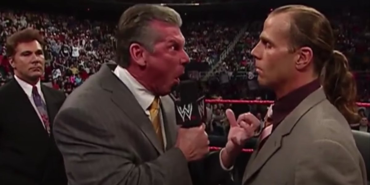Vince McMahon and Shawn Michaels on Monday Night Raw