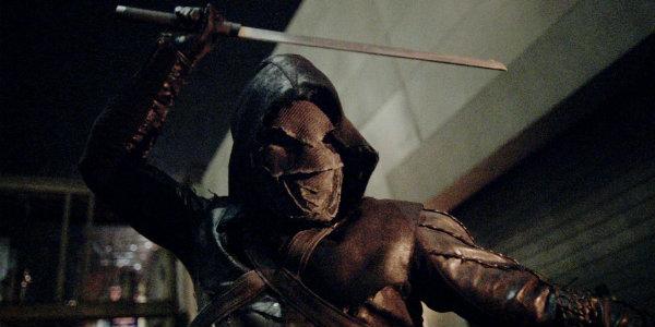 Arrow Season 5 Prometheus swings sword