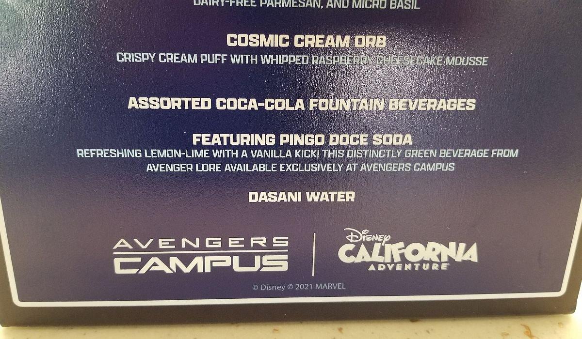 Pingo Doce Soda description inside Pym Test Kitchen