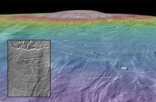 Martian Volcano Arsia Mons