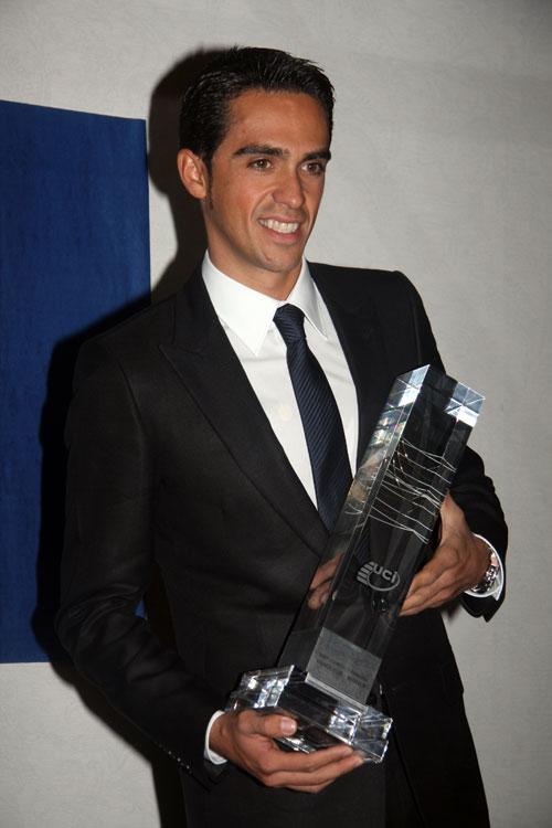Alberto Contador, UCI award, Dec 2009
