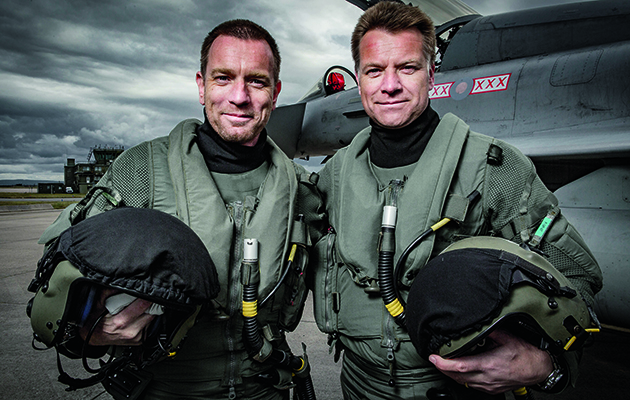 Actor Ewan McGregor and his brother Colin present a celebration of the Royal Air Force