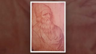 Giovan Ambrogio Figino's portrait of Leonardo da Vinci depicts the artist's right hand in a sling-like cloth.