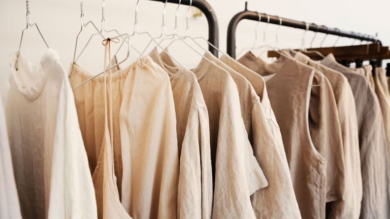 A clothing rail to depict a story for bamboo clothing