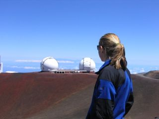 Tanya Lewis at the Keck Telescopes