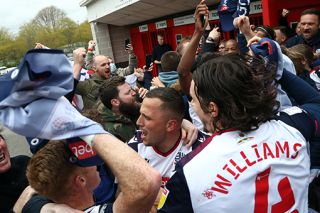 Bolton celebrate promotion with their fans