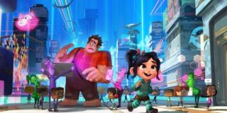 Vanellope and Ralph exploring the internet in Ralph Break the Internet