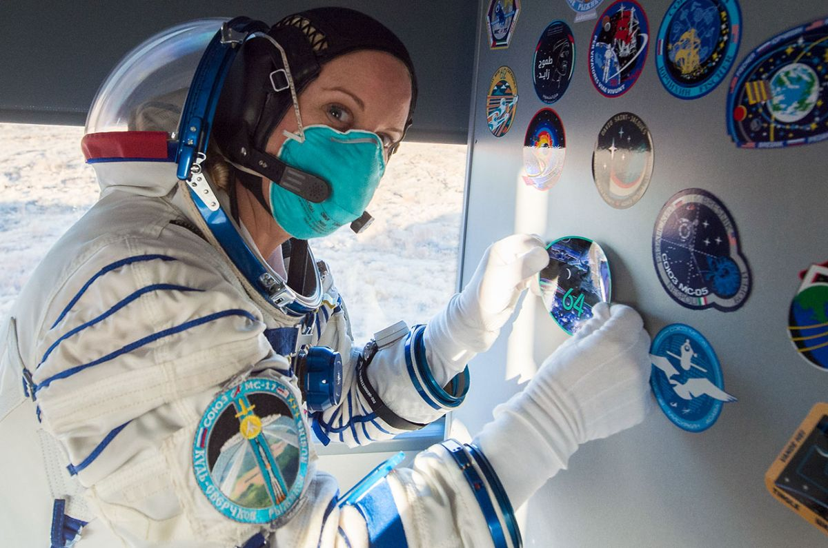 Astronaut Kate Rubins drew from photo to design new space station patch