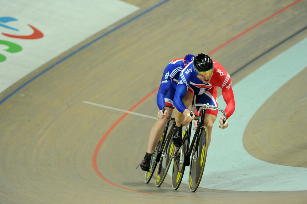 Chris Hoy and Matt Crampton, team sprint, European Track Championships 2010