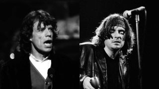 Mick Jagger in 1992 and The Red Devils' Lester Butler in 1993
