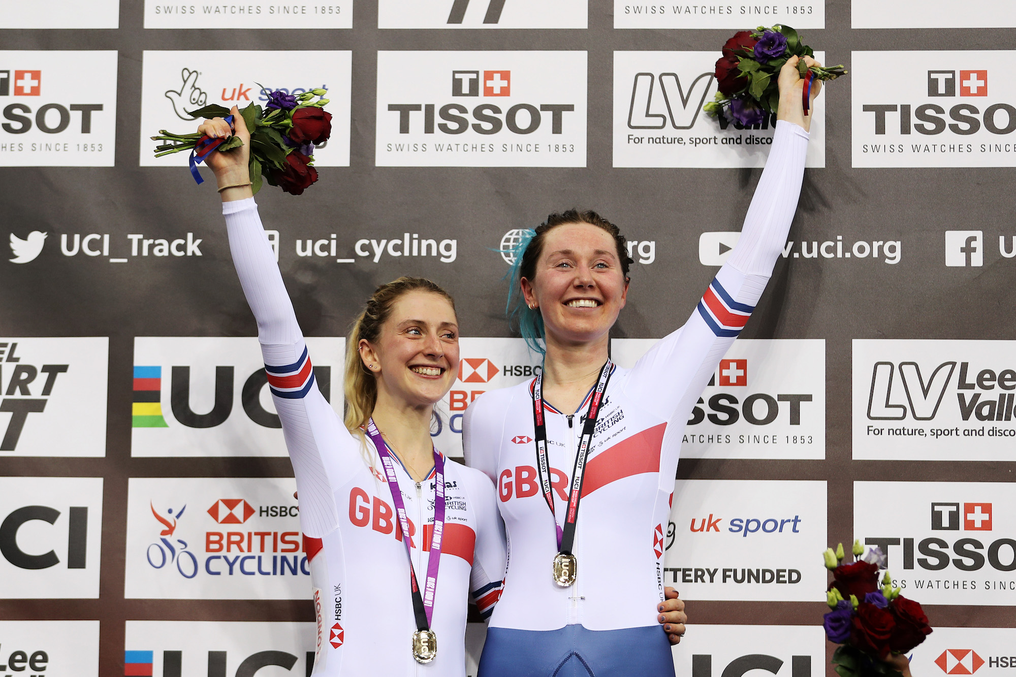 Laura Kenny and Katie Archibald take Madison silver at European Track Championships