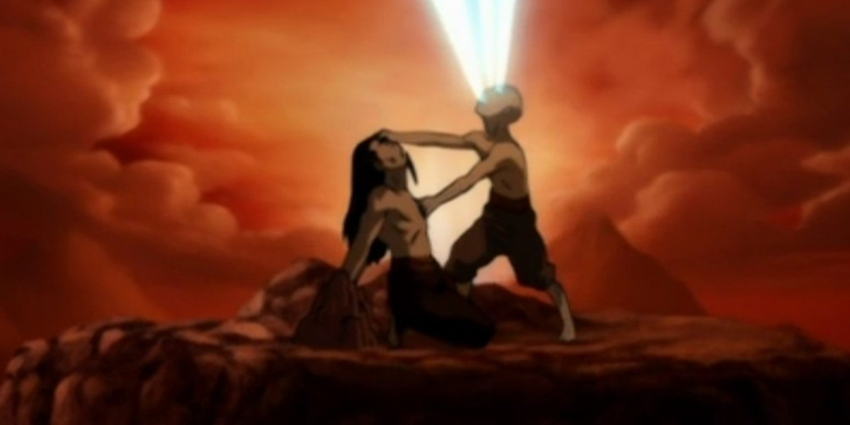 Aang on the right