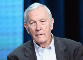 "CBS anchorman Roger Mudd speaks onstage during ""The March"" panel discussion at the PBS portion of the 2013 Summer Television Critics Association tour at the Beverly Hilton Hotel on August 5, 2013 in Beverly Hills, California."