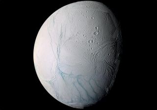 Recent studies suggest that the ocean that's sloshing beneath the icy shell of Saturn's moon Enceladus, seen here in a photo by NASA's Cassini spacecraft, may be a potentially habitable environment.