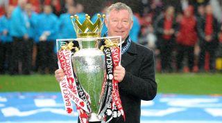 Alex Ferguson Premier League trophy Manchester United