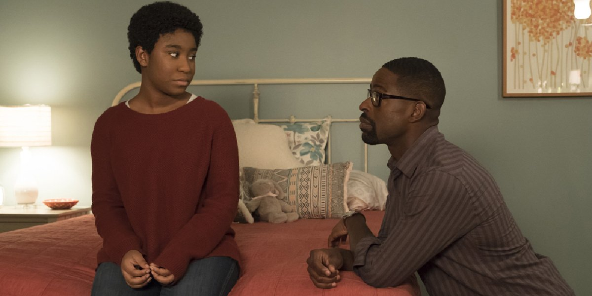 Deja and Randall in This Is Us.