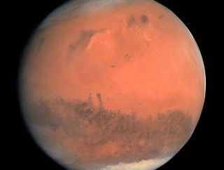 Mars, the red planet, deep space trip
