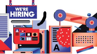 """We're hiring"" illustration"