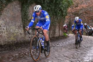 DOUR BELGIUM MARCH 05 Florian Senechal of France and Team Deceuninck QuickStep Cobblestones during the 51st Grand Prix Le Samyn 2019 a 2014km race from Quaregnon to Dour 826m GPSamyn on March 05 2019 in Dour Belgium Photo by Luc ClaessenGetty Images