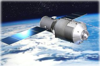 China's 8 Tiangong-1 space lab art