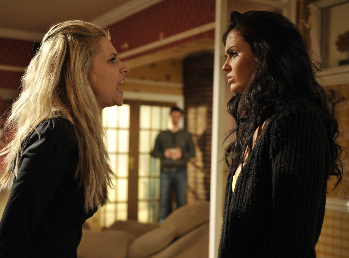 Carmel and Mercedes come to blows
